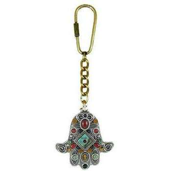 Michal Golan African Turquoise, Red Jasper Keychain