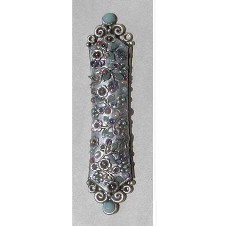 Michal Golan Amazonite & Rose Quartz Mezuzah