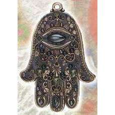 Michal Golan Black Hamsa Wall Plaque