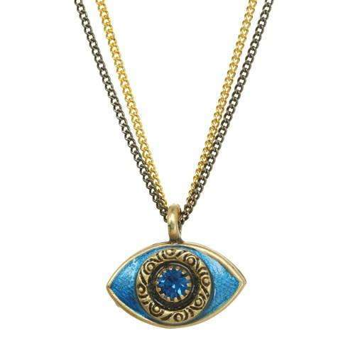 Michal Golan Blue Evil Eye Double Strand Necklace
