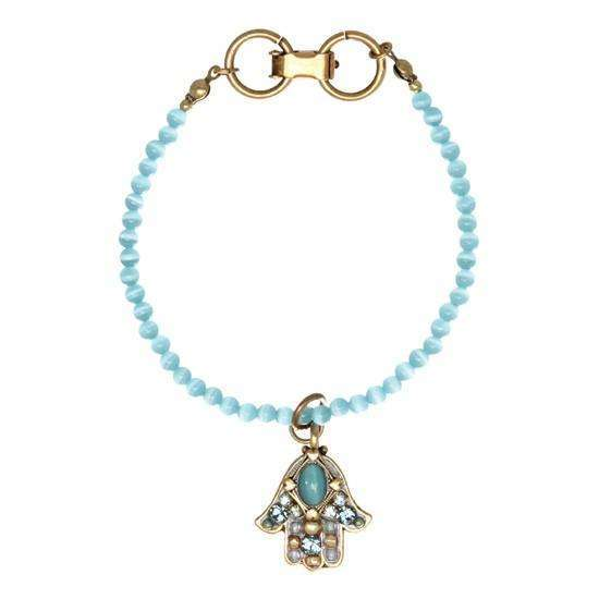 Michal Golan Cat's Eye Hamsa Dangle Bracelet