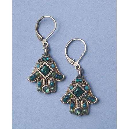 Michal Golan Chinese Turquoise Hamsa Earrings