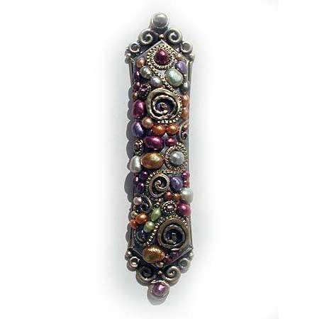Michal Golan Colorful Pearl Mezuzah