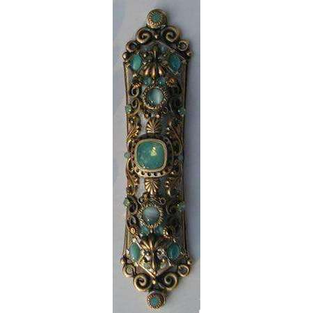 Michal Golan Crystal and Pacific Opal Mezuzah