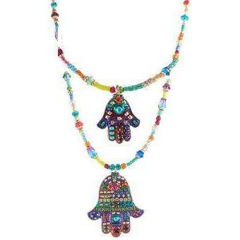 Michal Golan Deep Bright Hamsa Necklace