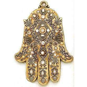 Michal Golan Freshwater Pearls and Swarovski Crystal Wall Hamsa