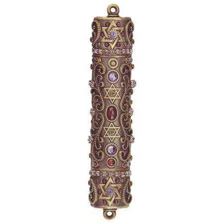 Michal Golan Garnet and Tanzanite Mezuzah