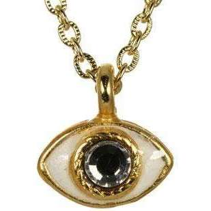 Michal Golan Gold and Enamel Evil Eye Pendant Necklace