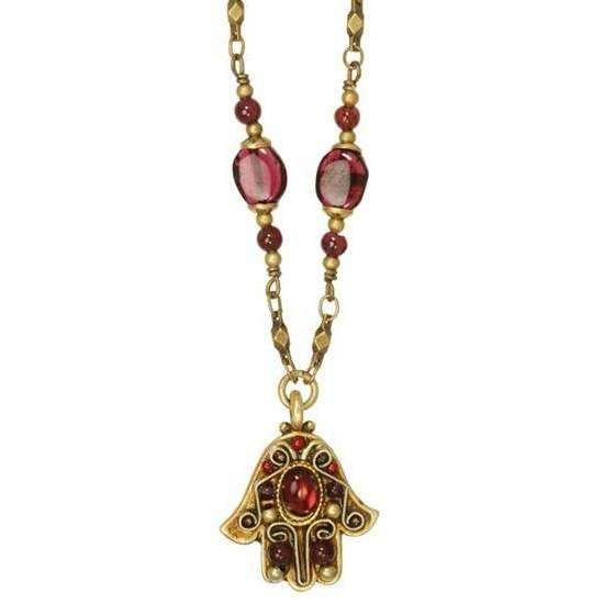 Michal Golan Merlot Hamsa Necklace