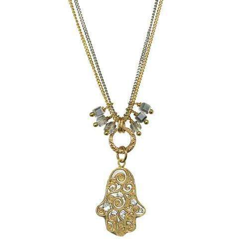 Michal Golan Mixed Metal Hamsa Necklace