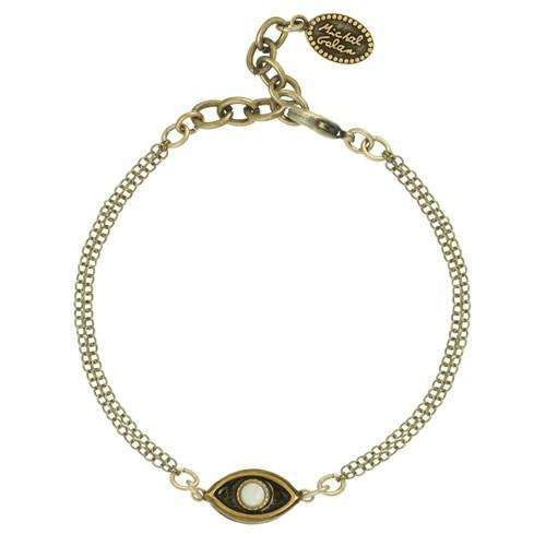 Michal Golan Mother of Pearl Evil Eye Bracelet