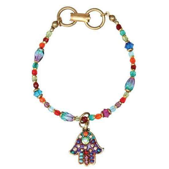 Michal Golan Multi Bright Hamsa Dangle Bracelet
