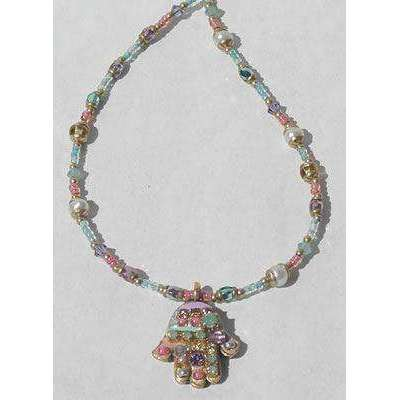 Michal Golan Pastel Hamsa Necklace