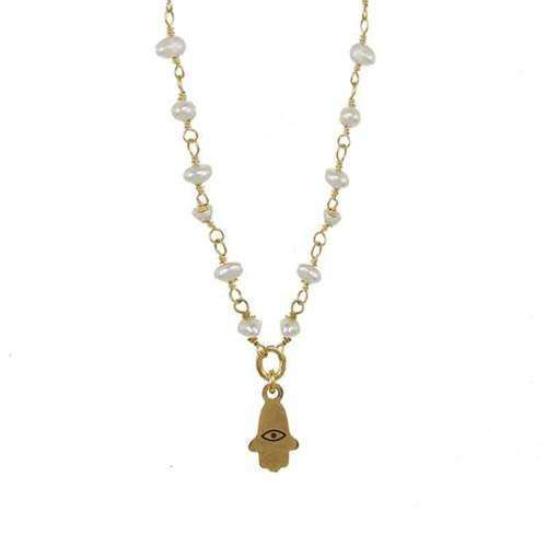 Michal Golan Petite Hamsa Necklace