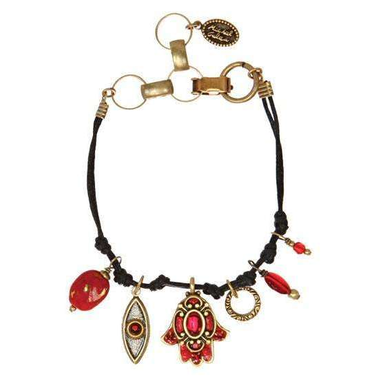 Michal Golan Red Hamsa and Evil Eye Bracelet