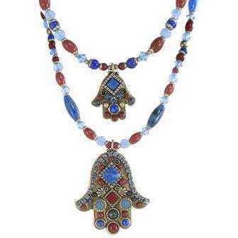 Michal Golan Red Jasper Hamsa Necklace