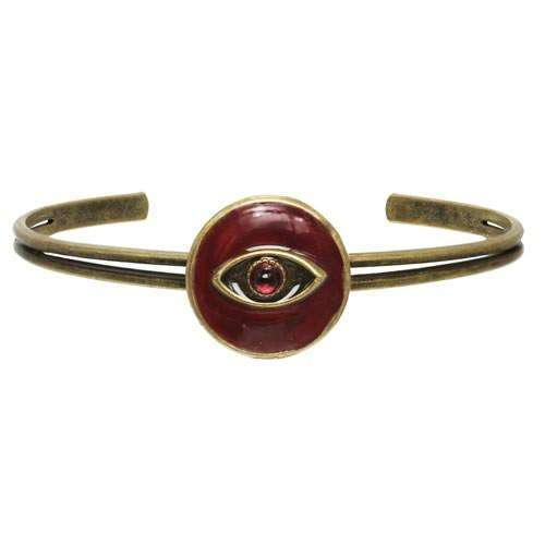 Michal Golan Round Red Evil Eye Cuff Bracelet