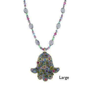 Michal Golan Springtime Hamsa Necklace