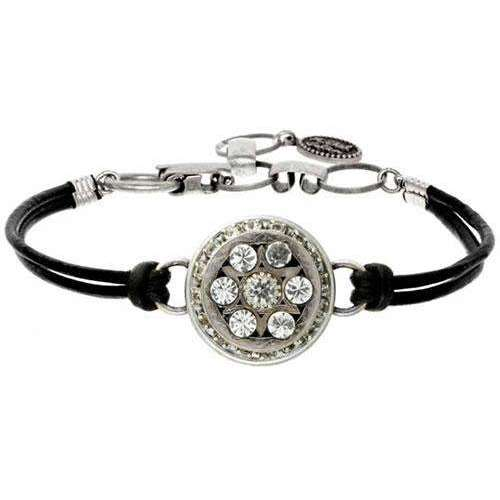 Michal Golan Star of David Leather Bracelet in Silver