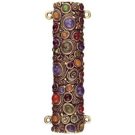 Michal Golan Swarovski Crystal and Circles Mezuzah