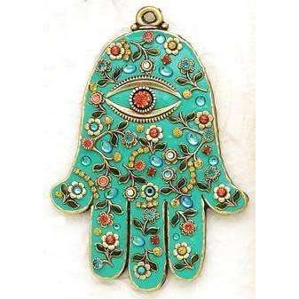Michal Golan Wall Hamsa with Turquoise Enamel