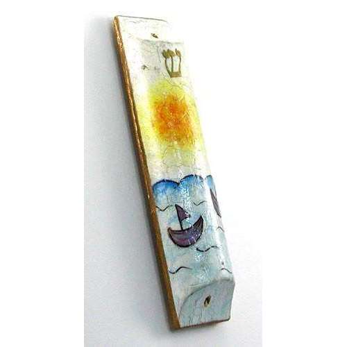 Moshe Monzon Sailing in the Sun Mezuzah