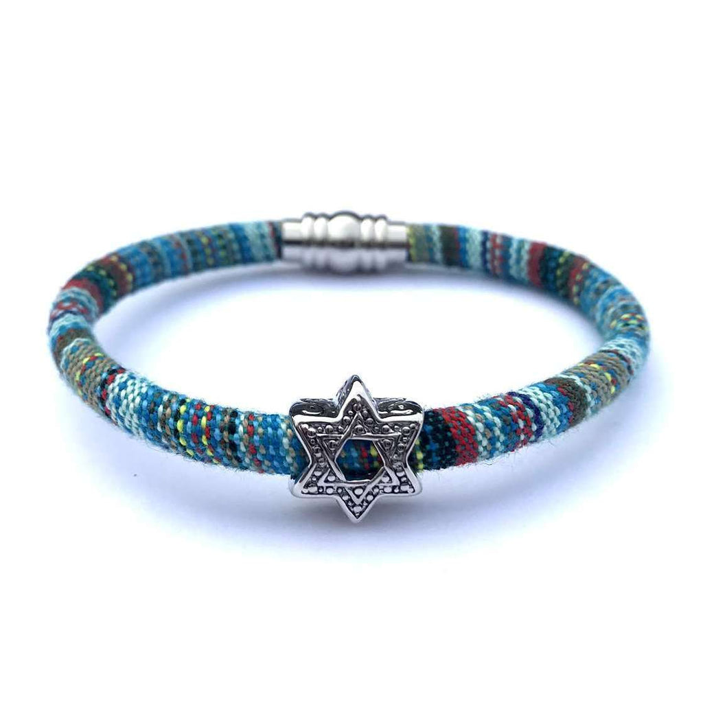 My Tribe Blues Skies Star of David Bracelet