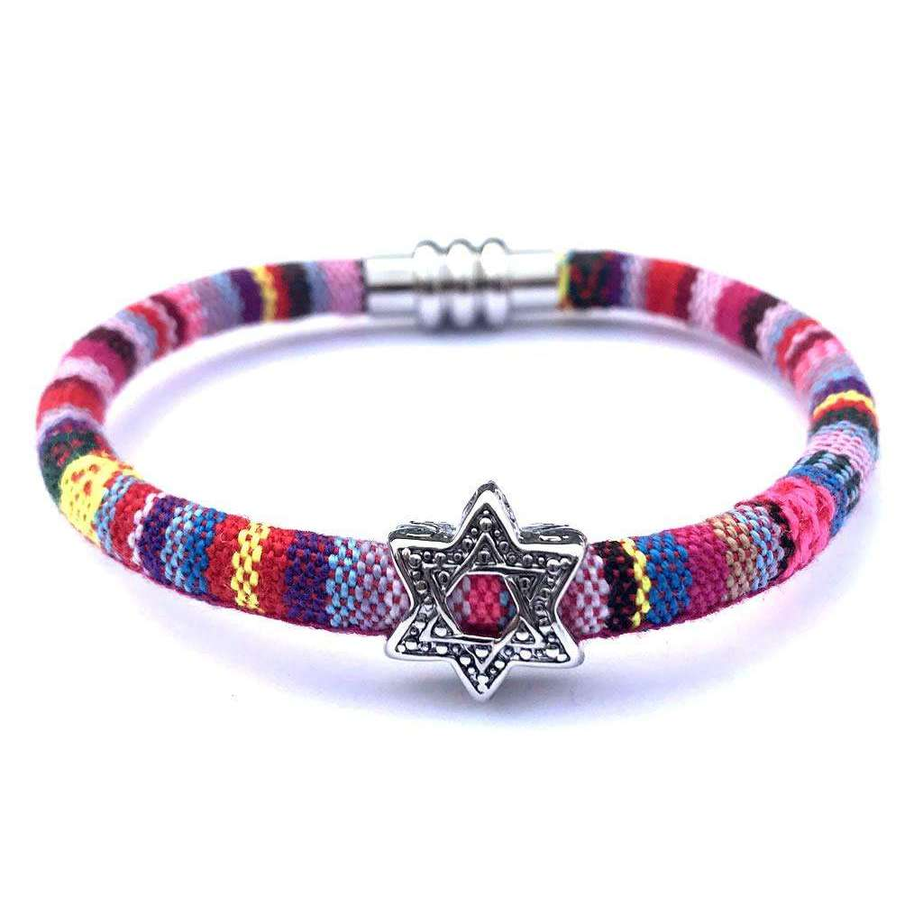 My Tribe Pretty in Pink Star of David Bracelet