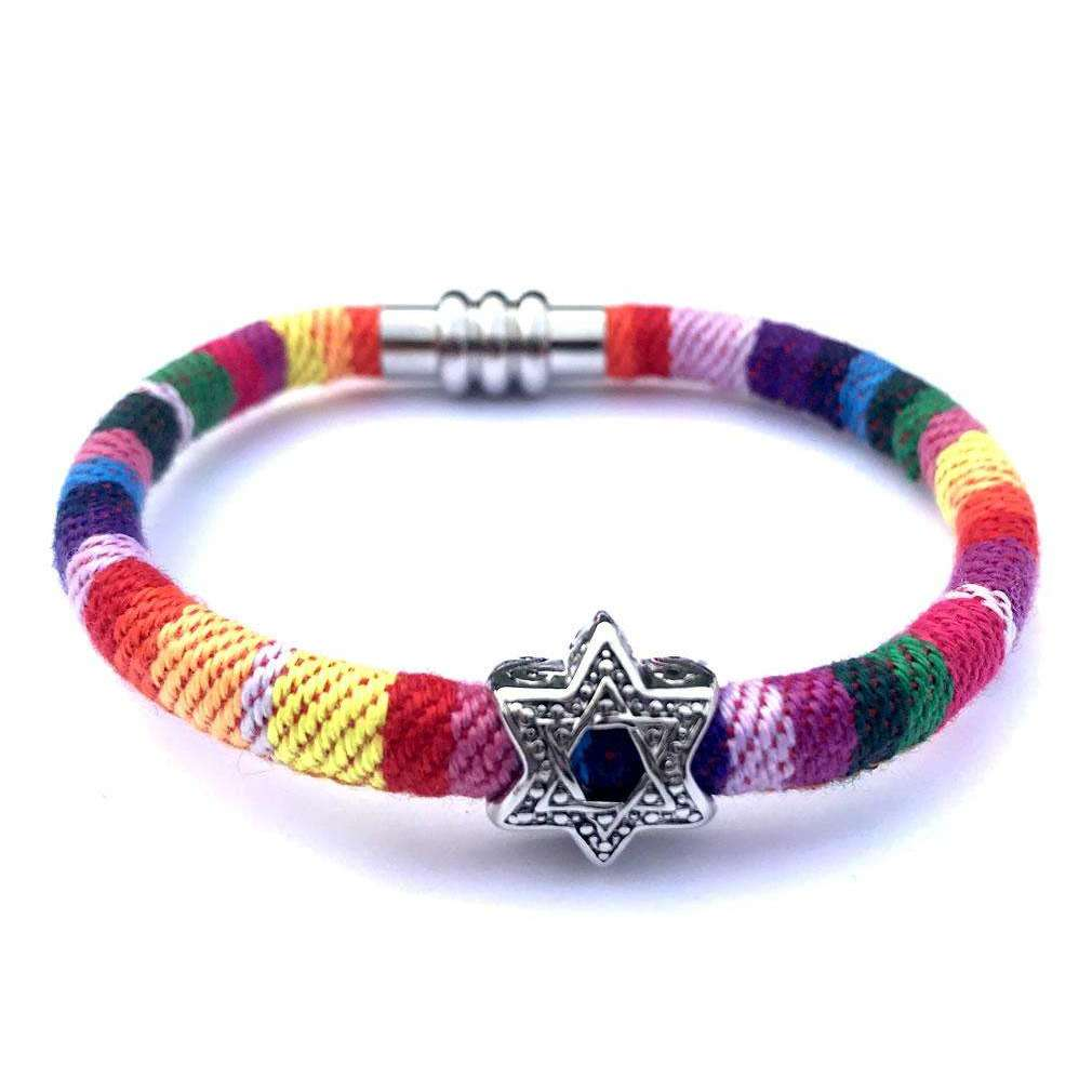 My Tribe Rainbow Star of David Bracelet
