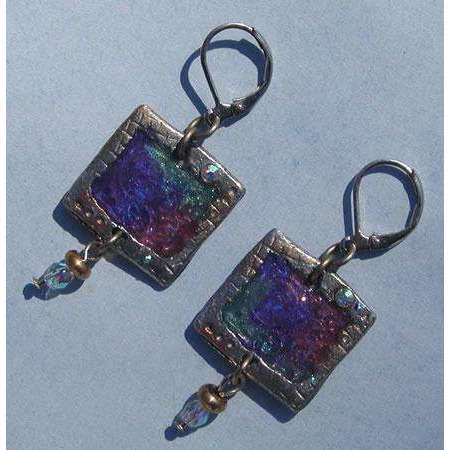 Nanette Orijinels Square Earrings