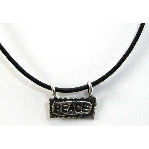 Rachel Miller Double-Sided Shalom/Peace Hebrew Necklace
