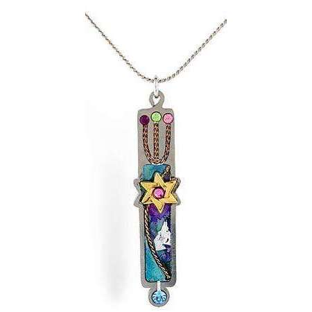 Seeka Mezuzah Pendant with Star of David