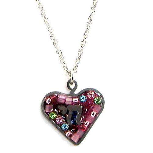 Seeka Pretty in Pink Heart and Chai Necklace