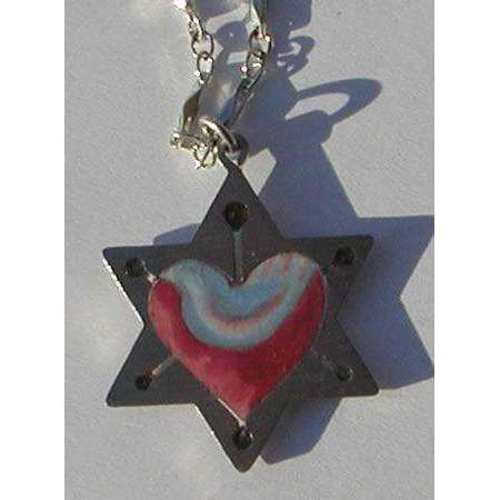 Seeka Star, Heart, and Dove Necklace