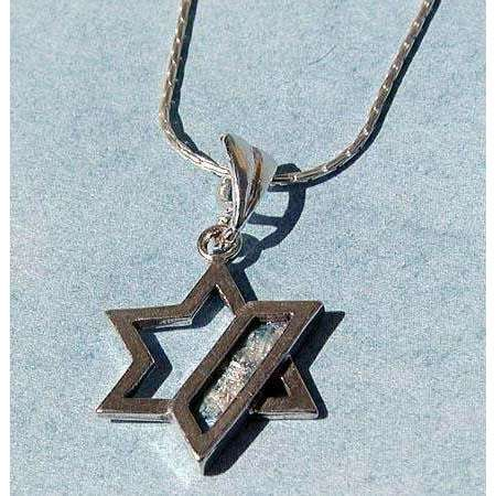 Shamay & Benlulu Delicate Star of David With Roman Glass
