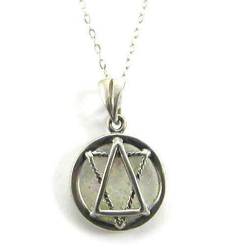 Shamay & Benlulu Star of David Necklace in Circle With Roman Glass