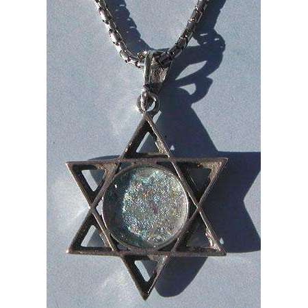 Shamay & Benlulu Star of David with Roman Glass