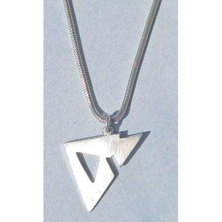 Susan Fox Angled Sterling Silver Chai Necklace