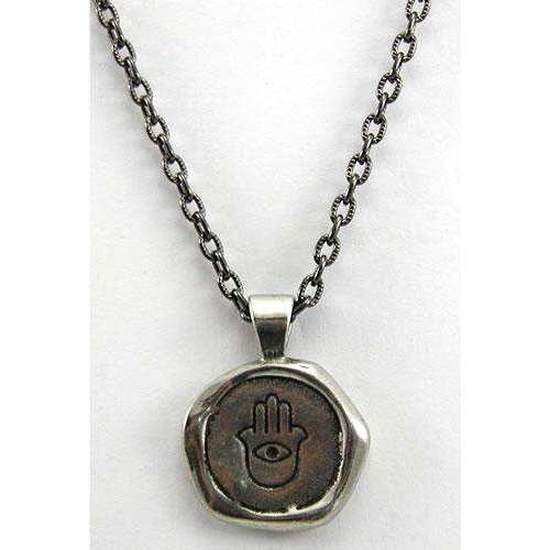 Whitney Howard Hamsa/Protect Wax Seal Necklace