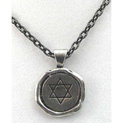 Whitney Howard Star of David/To Life Wax Seal Pendant