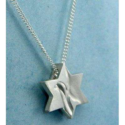 Yonatan Peace Dove Star of David Necklace