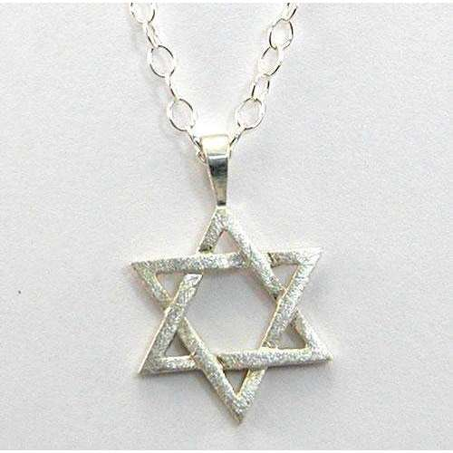 Zina Kao Large Silver Star of David Necklace