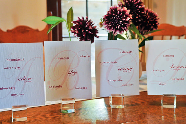 Table Cards / Luxe Singles