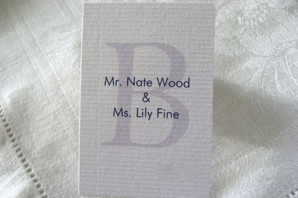 Seating Cards / Classic