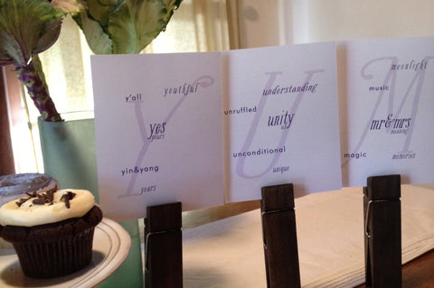 Table Cards / Whimsy Singles