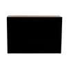 Black Perspex Bar Unit With Shelf and Top
