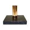 Black Stone Candle Holder