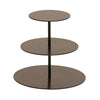 Black Three Tier Stand - Metal