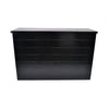 Black Wooden Bar Unit With Shelf and Top