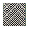 Black and White Geometric Rug 2.0m x 2.0m
